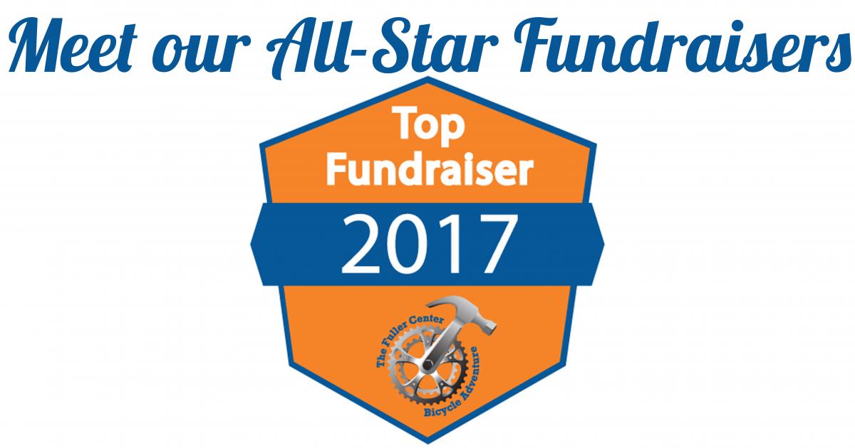 bike adventure, fundraising, top fundraiser